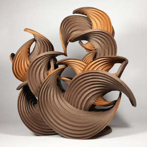 Curved-crease sculpture