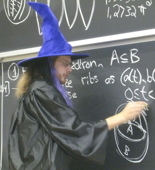[Erik Demaine teaching on Halloween, 2007]