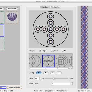 Screen shot of Virtual Glass software